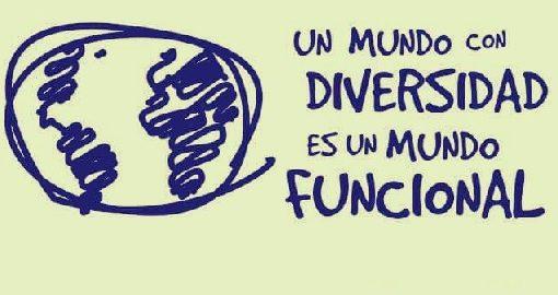 """Garabato desdibujado del planeta tierra junto al texto """"Un mundo con diversidad es un mundo funcional"""""""